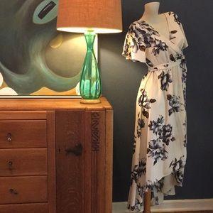 Tua Dresses - 1930's Style Floral Wrap Dress